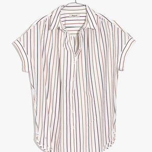 Madewell Central Shirt in Sadie Stripe Size S